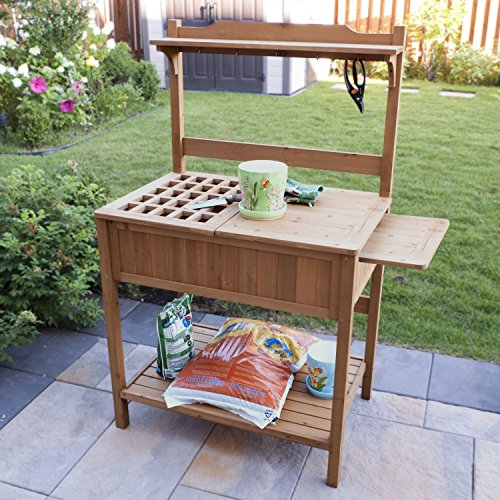 Amazoncom Merry Garden Potting Bench with Recessed Storage