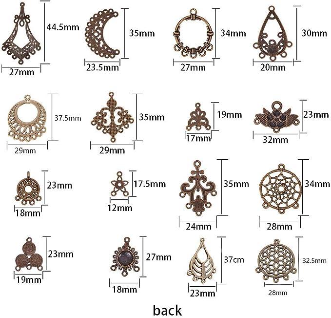 Hoops Pendants Size B 2017 F-1057 Enamel Jewelry Findings Connectors