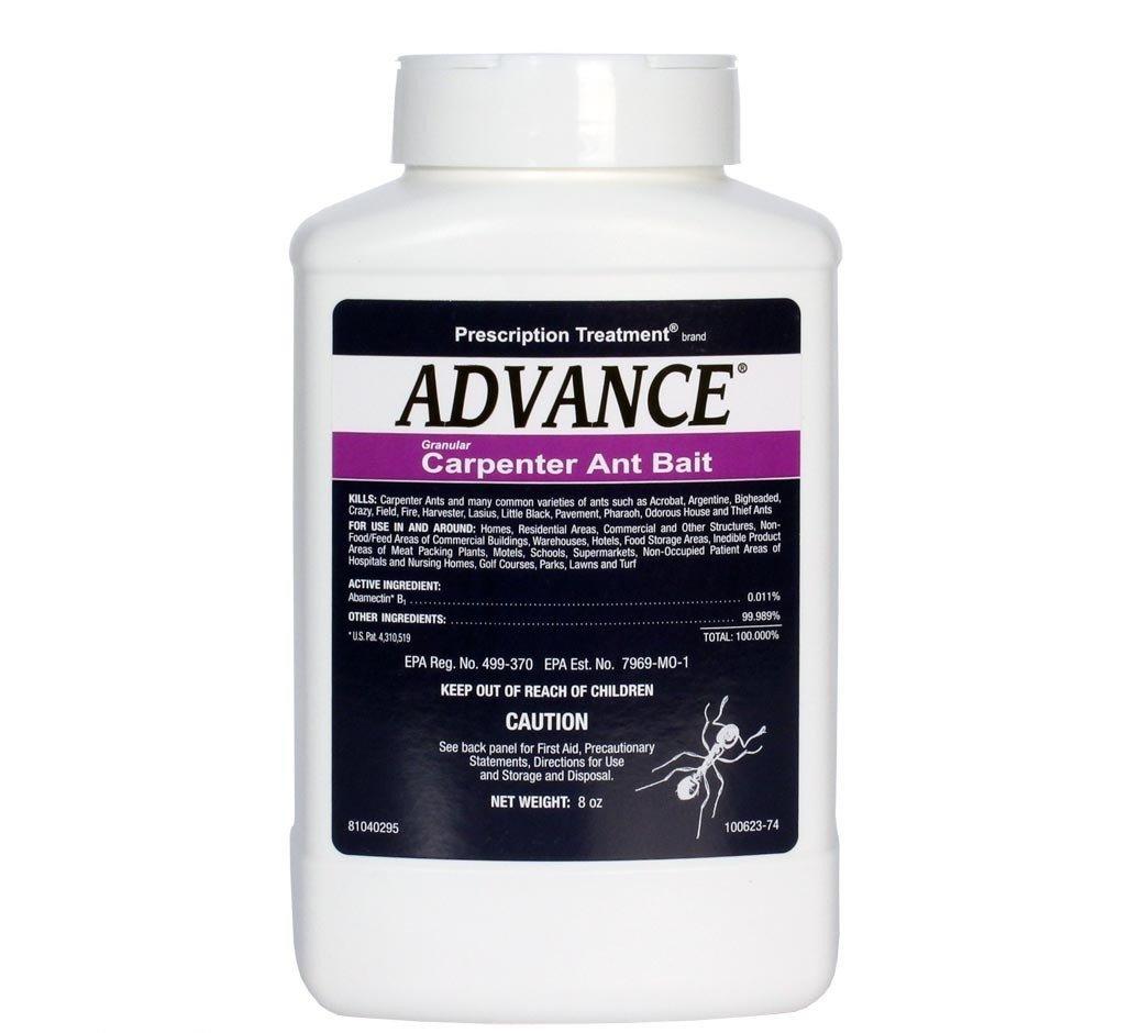 8 oz Advance Granular Carpenter Ant Bait ~~ Kills: Carpenter Ants , Acrobat , Argentine , Bigheaded , Crazy , Field , Little Black , Pavement , Pharoah , House , and Theif Ants BASF TRTV1981