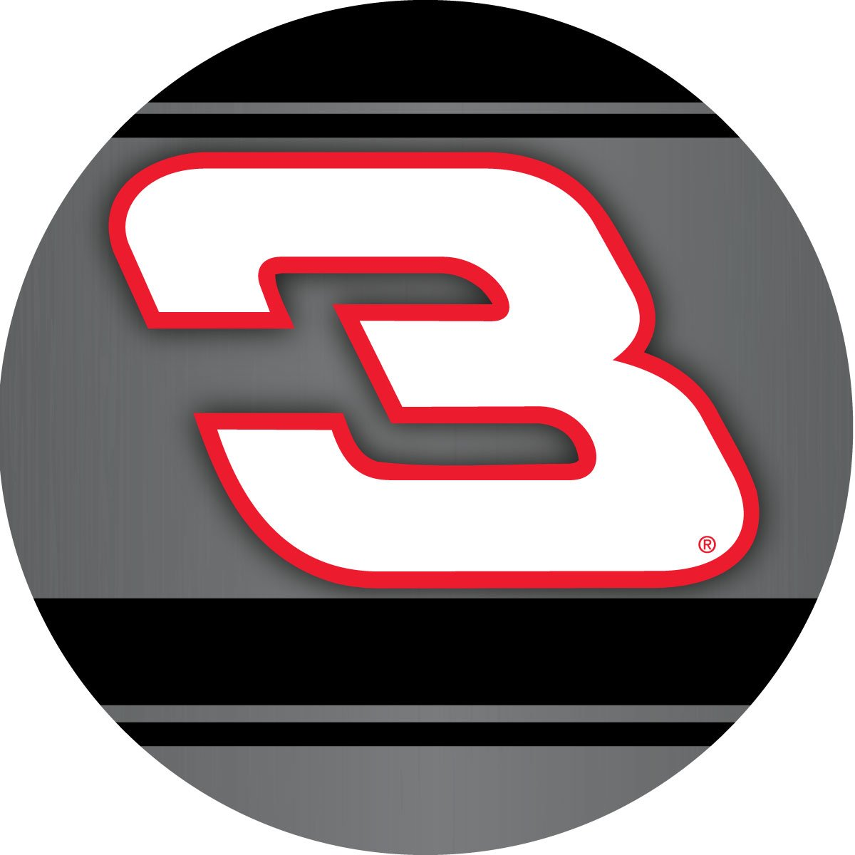 Amazon com dale earnhardt sr 3 racing stripe decal 4 round vinyl auto home nascar sports outdoors