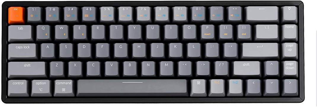 Keychron K6 68-Key Wireless Bluetooth/USB Wired Gaming Mechanical Keyboard
