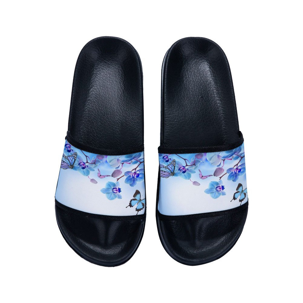 Eric Carl Boys Girls Shower Shoes Bathroom Slippers with Butterfly Soft Sole Open Toe House Slippers