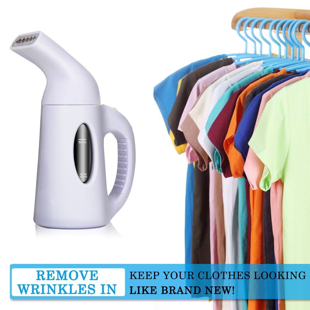 misokoo Steamer For Clothes, Clothes Steamer,Portable Steamer For Clothes Portable Garment Steamer 850 Watt Powerful Clothes Steamer Wrinkle Remover. Reject Spit Out Water Compact-Travel Steamer by misokoo (Image #3)