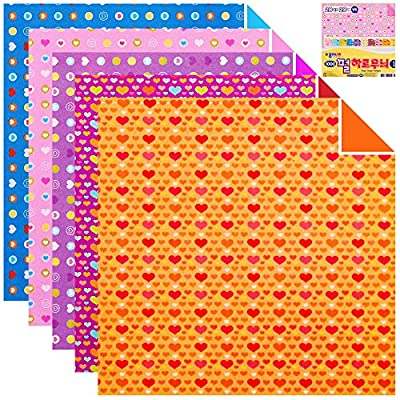 100 Sheets Double Sided Origami Paper Flower/Traditional/Quilt Pattern