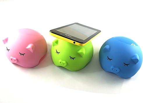 Ars-Bavaria Soporte para smartphone/Soporte de mesa para todos los modelos de smartphone – Antideslizante ventosa Función Sin ventosa en imitación de cerdos: Amazon.es: Electrónica
