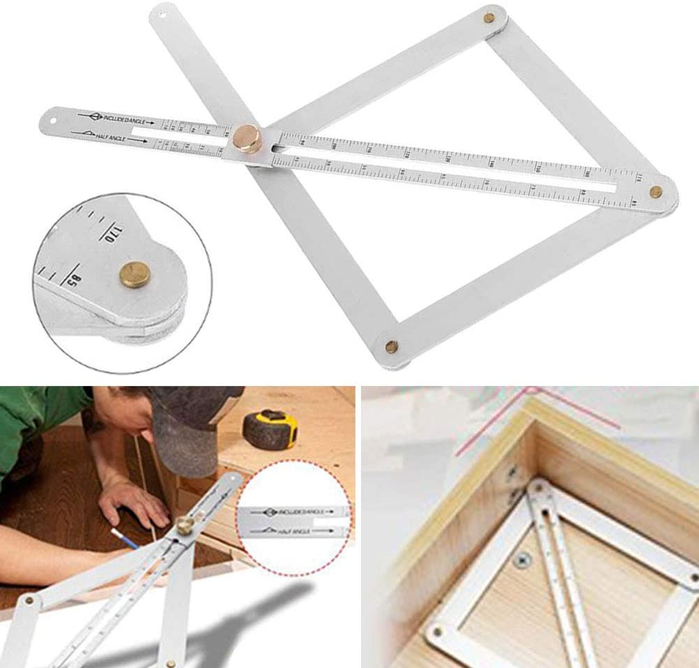 Corner Angle Finder Ceiling Artifact Tool Square Protractor Stainless Steel