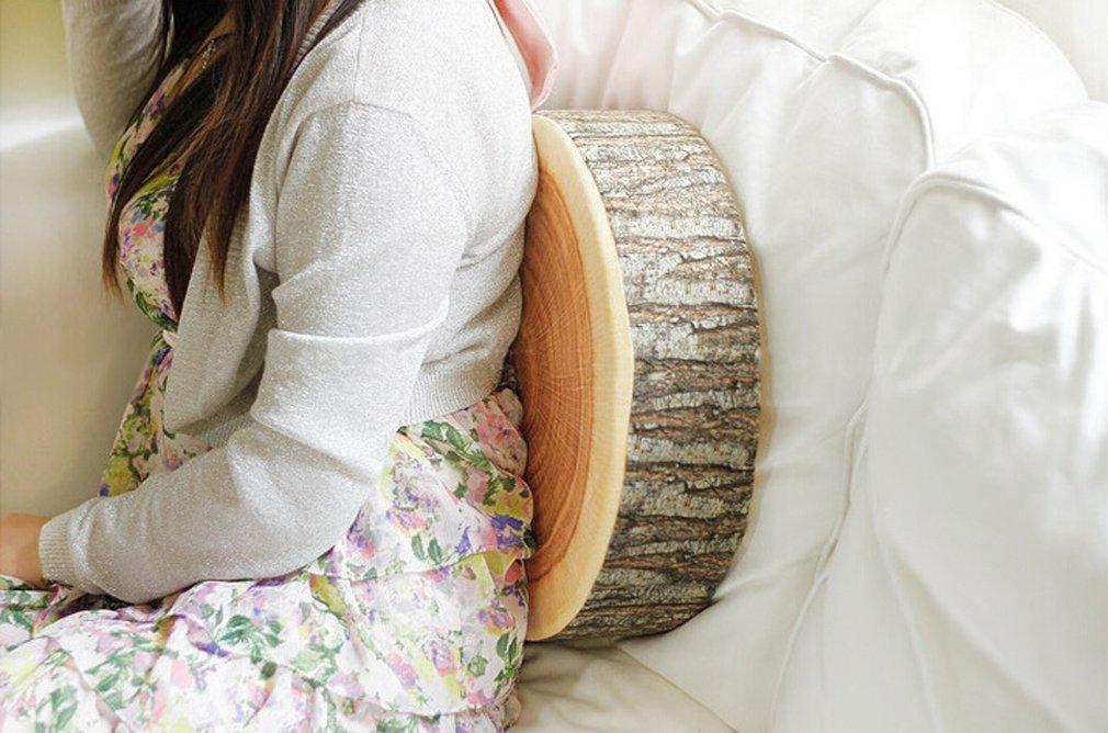 1# Hengsong Creative Natural Woods Design Log Soft Chair Cushion Pillows Gift Home Sofa