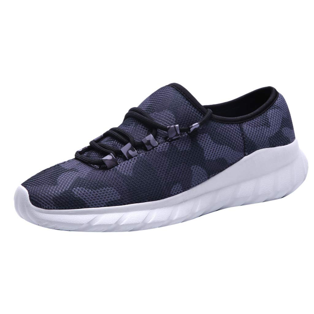 Sport Shoes Mesh Casual Slip-On Sport Shoes KUNAW Comfortable Footwears Loafers Breathable Non Slip Sport Athletic Lace Up Walking Running Shoes Pattern Upper Sneakers Fitness for Gym
