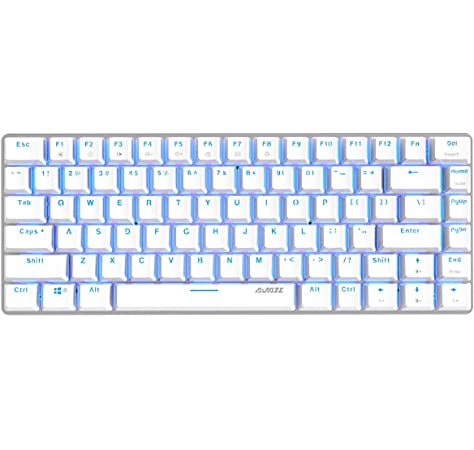 Amazon Com Epomaker Ajazz Ak33 82 Keys Mechanical Keyboard For Gamer Programmer Office Work For Android Windows White Backlit Blue Switch Black Computers Accessories