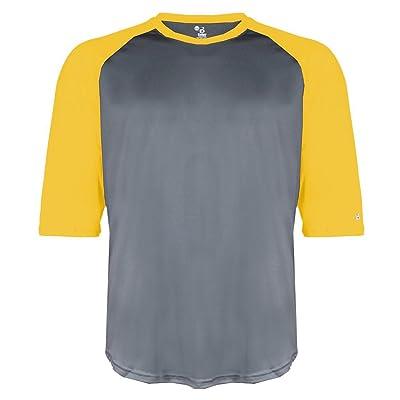 Badger Big Boys' Contrasting Baseball 3/4 Sleeve Undershirt