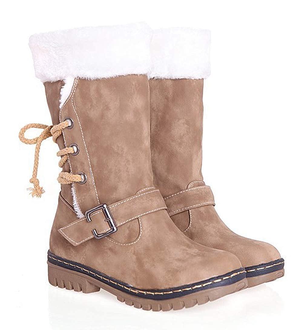 ad868b86f8110 Bottes de Neige Femmes Hiver Chaudes Bottes Fille Mode Fourrées Boots Bottes  Antidérapantes Randonnée en Plein ...