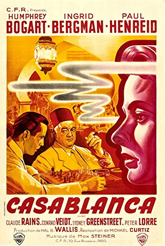 Old Tin Sign Casablanca Classic Vintage Movie Poster MADE IN