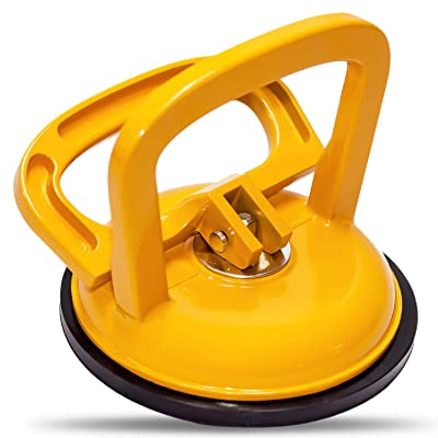 WFPOWER Aluminum Suction Cup Yellow Handle Lifter Hand Tools Dent Puller Remover, 5inch Heavy Duty Glass Lifting Universal Tool: Automotive