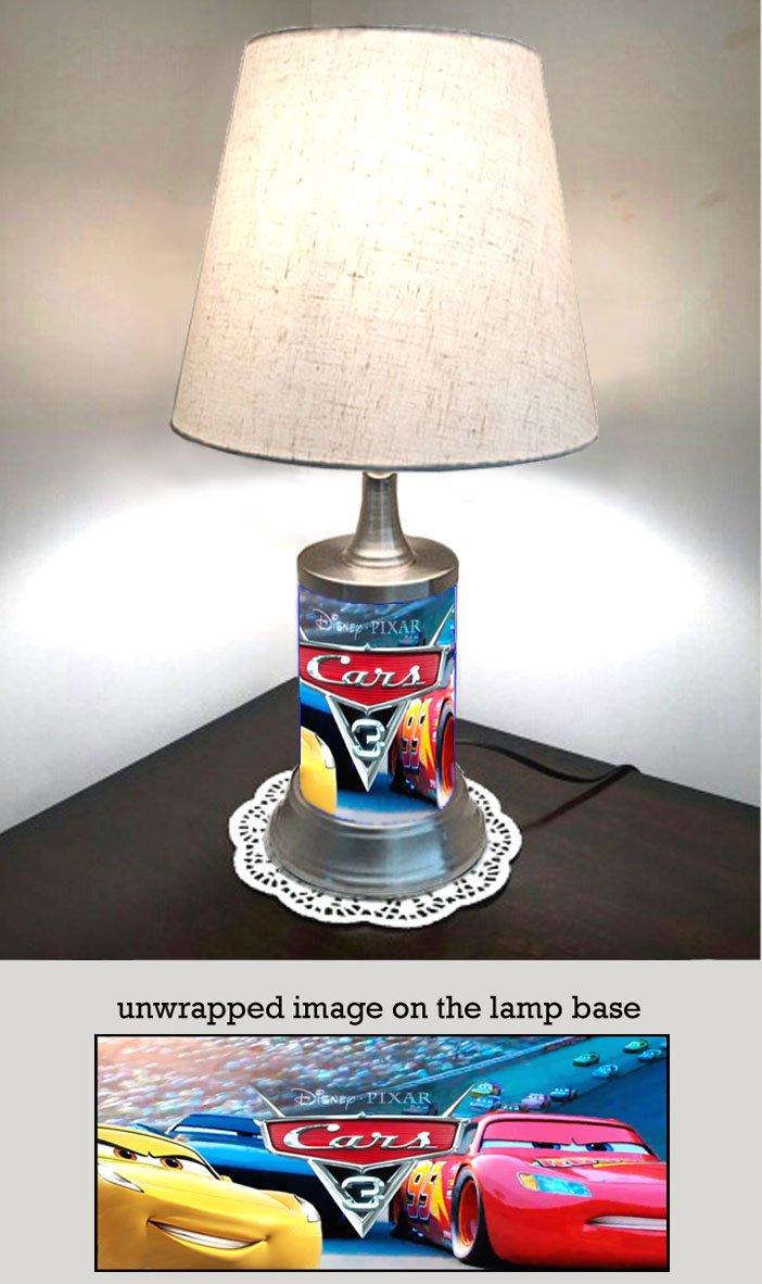 Cars 3 Lamp with Shade, Disney Pixar Animated Movie