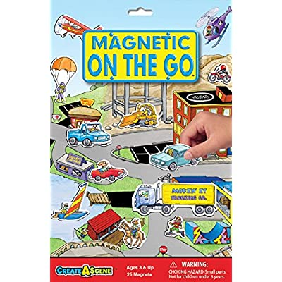 Create-A-Scene Magnetic Playset - On the Go: Toys & Games