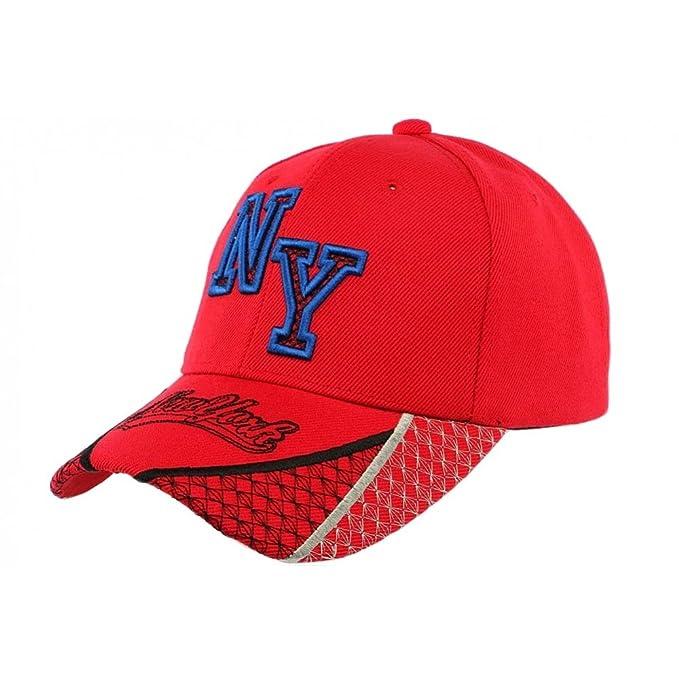 Hip Hop Honour-Gorra de béisbol Stan NY, color rojo y azul para hombre y mujer rojo Talla única: Amazon.es: Ropa y accesorios