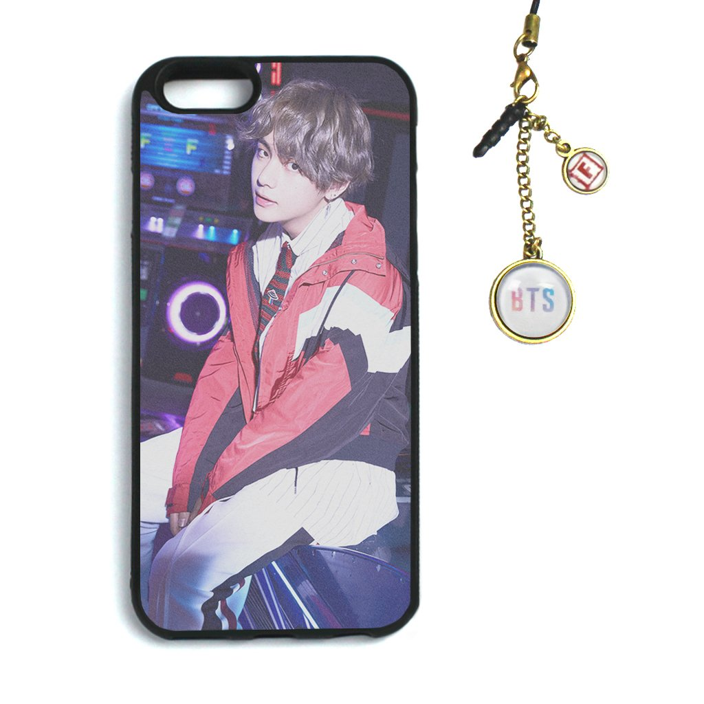Fanstown Kpop BTS Bangtan Boys iPhone 6/6s case Love Yourself 承 HER + Dust Plug Charm (F17)