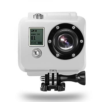 Rusty Bob - GoPro carcasa / caja de la cubierta de silicona cubierta del flotador Flotante / agua [Compatible HERO2 HD cámara]. Accesorios: Amazon.es: ...