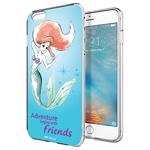 buy online deefb d0edf MTT Officially Licensed Disney Princess Ariel Soft Back Case Cover for  Apple iPhone 6S & 6 (D5103)