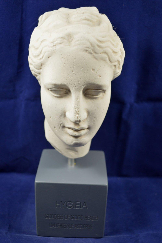 Hygeia scultura dea greca antica della salute Museum Reproduction testa busto Estia Creations