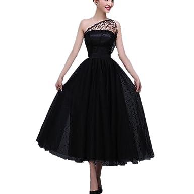 Kleid lang schwarz 46