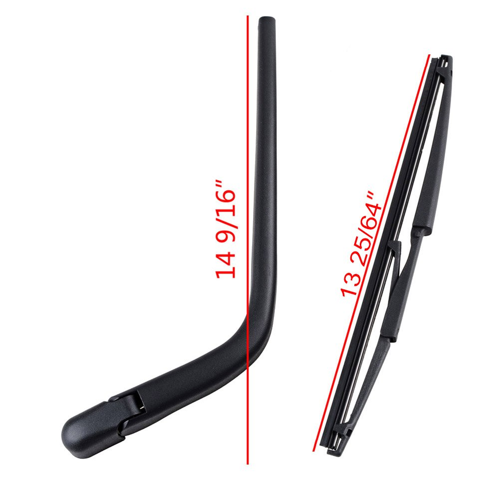 Completed Set Rear Wiper Arm + Blade For 2004-2006 Scion XB 2000-2005 Toyota Echo 2004-2007 Toyota Yaris