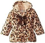 Widgeon Baby-Girls Infant Big Bow Coat, Baby Leopard, 18 Months