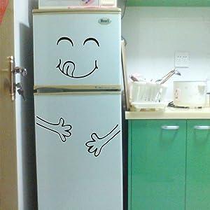 HIKO23 Funny Sticker Fridge Vinyl Refrigerator Sticker Stylish Kitchen Wall Art Decal Cute Home Decor Creative Decoration
