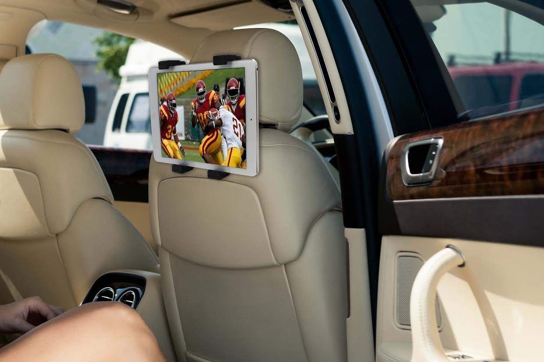 Universal Car Headrest Mount Holder, 360 Degree Adjustable Rotating Headrest Car Seat Mount Holder for iPad Pro/Air/Mini, Samsung Galaxy Tab, Amazon Kindle Fire, Surface Go & More 6-11 inch Tablet