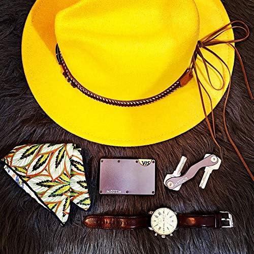 MouZie Gunmetal Faces Outer Layers Kit for Money Clip Cash Strap Band Slim Aluminum RFID Blocking Minimalist Premium Front Pocket Credit Card Holder Wallet for Men and Women