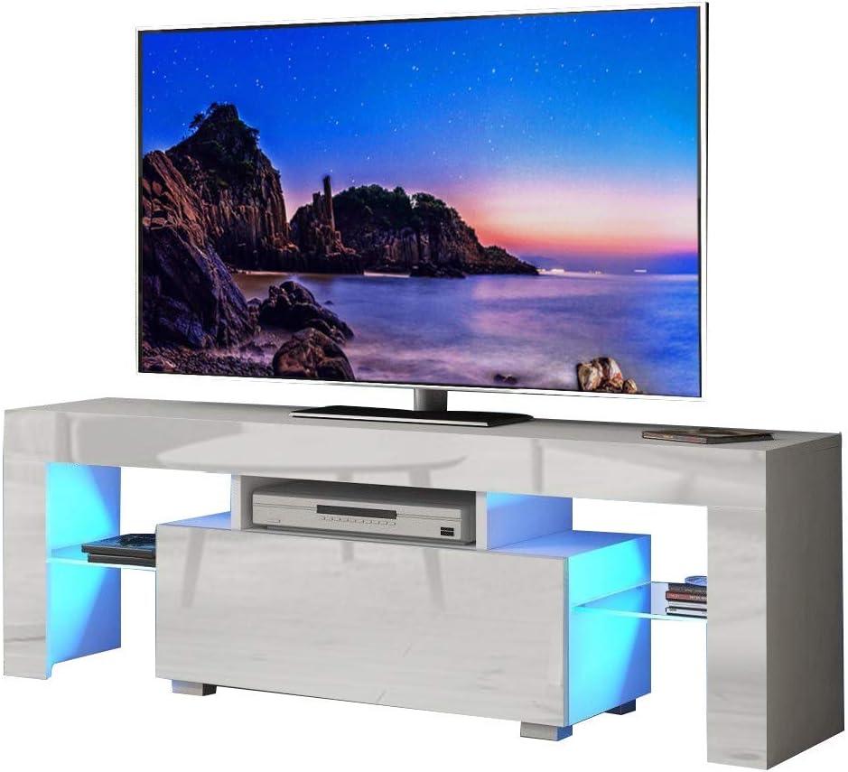 Dripex - Mueble para TV (130 cm, con Luces LED Azules, para televisores de hasta 55