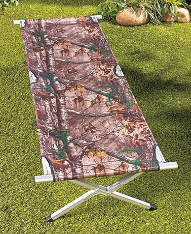 Realtree Green Easy-Up Camping Bed/Cott