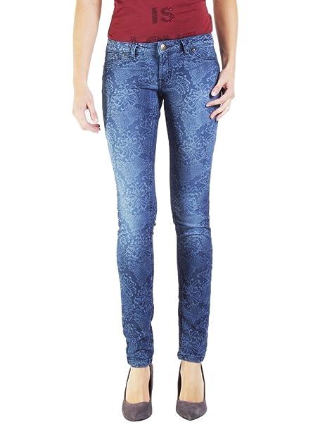 Carrera Jeans - Jogger vaqueros 788 para mujer, estilo recto, motivo adamascado, interior felpudo, ajustado, cintura baja: Amazon.es: Ropa y accesorios