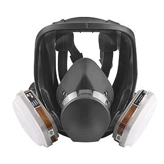 Lorenlli Juego de Herramientas de protección Multiusos de protección contra el Polvo, máscara de Vapor, mascarilla Antipolvo y máscara de Gas.