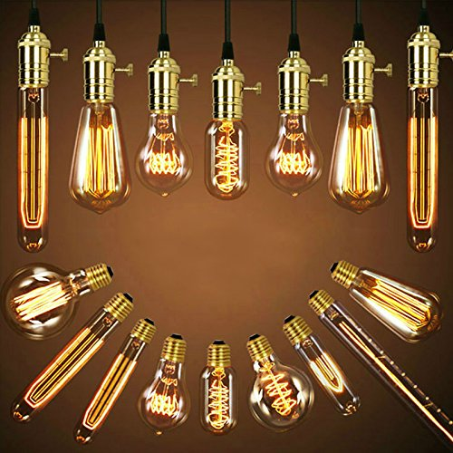 Gladle 40W Edison clásico foco 220V E27Casa Lámpara de luz incandescente Globe