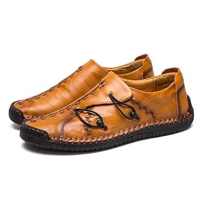 Monk Zapatillas Hombre Cuero Zapatos Caballero Casuales Trabajo ...