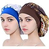 Silk Sleep Cap for Women & Girls, Silk Bonnet Sleeping Night Cap & Hat for Curly Hair Loss
