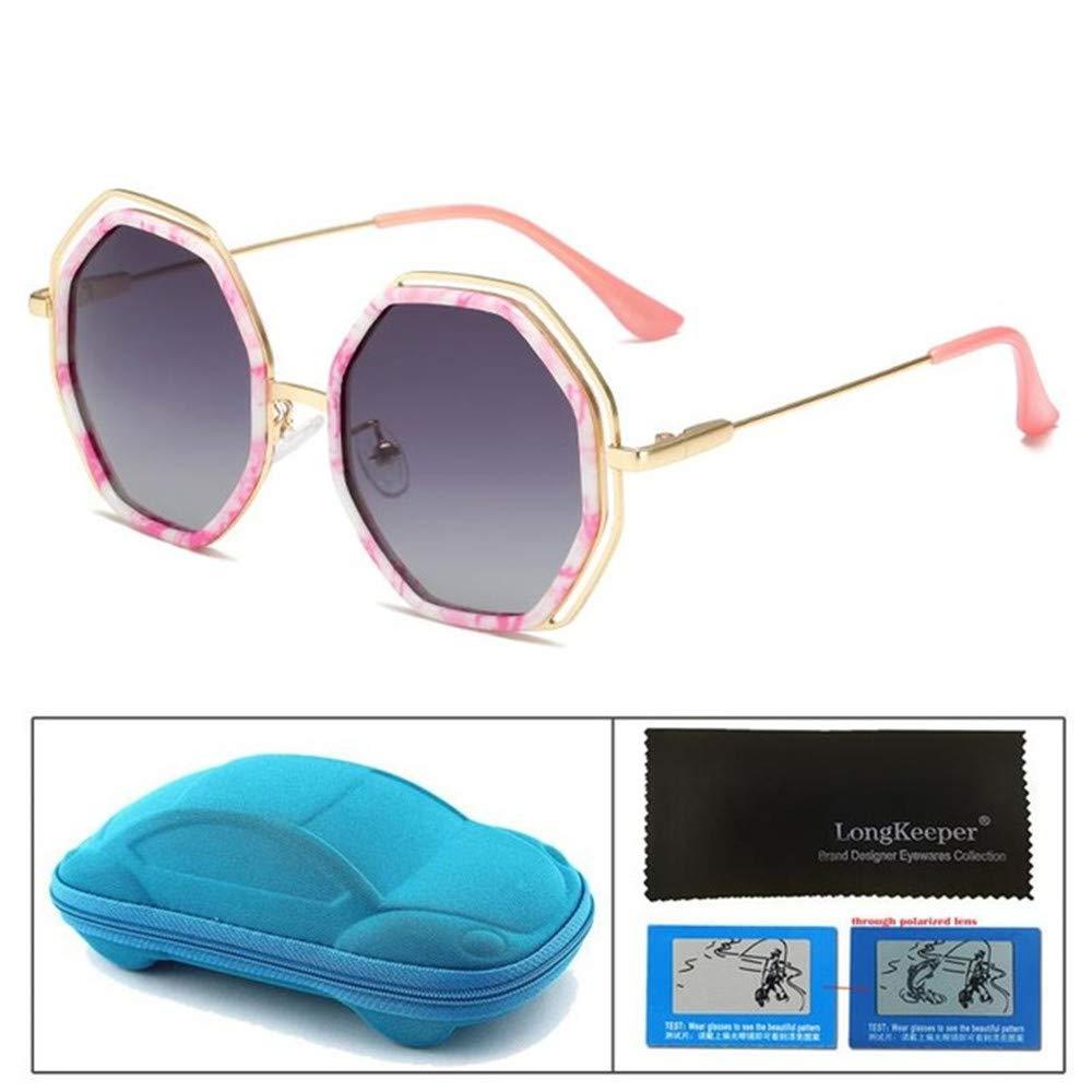 Wang-RX Gafas de sol para niños Moda Polígono polarizado ...