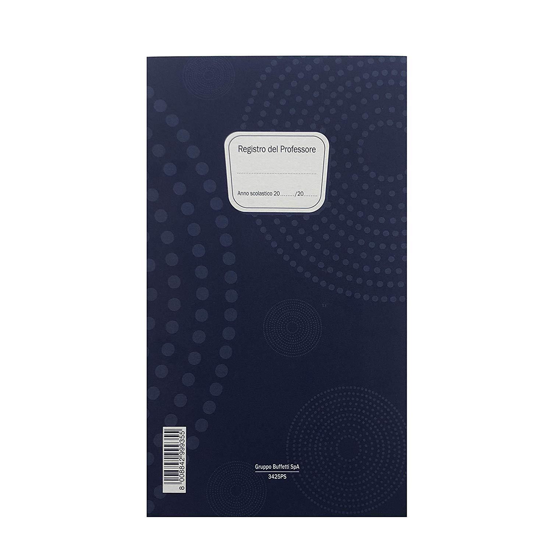 3x - REGISTRO DEL PROFESSORE 3 CLASSI - F.TO 31X17 CM - 36 pagine CIERRE