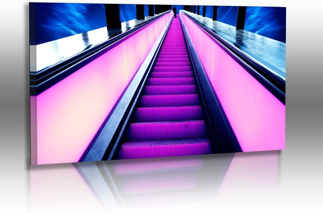 Foto Atelier Dirk Haas Premium Pared Imágenes XXL – Arquitectura – Imágenes – Abstracto – sintética – Escalera mecánica – Neon: Amazon.es: Juguetes y juegos