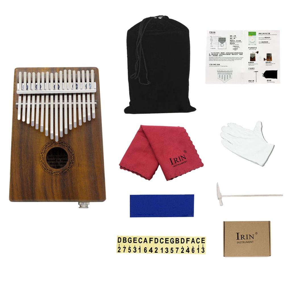 Homyl Acacia Wood 17 Key EQ Electric Kalimba Thumb Piano Mbira Lamellaphone Idiophone