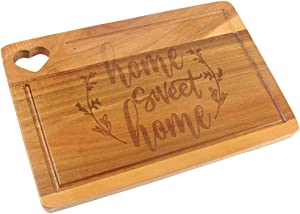 HomeLove Inc. Home Sweet Home Engraved Wood Cutting Board, Gifts for Cook Lover, chef, Friend, Family, Rustic Farmhouse Kitchen Decor, Housewarming, Christmas Gift