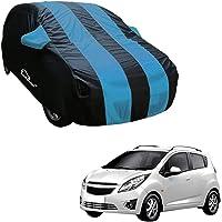 Autofurnish Aqua Stripe Car Body Cover Compatible with Chevrolet Beat - Arc Blue