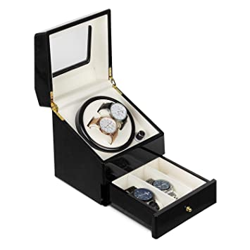 Klarstein Geneva • Estuche de Relojes • Caja para Relojes • para 2 Relojes automáticos •