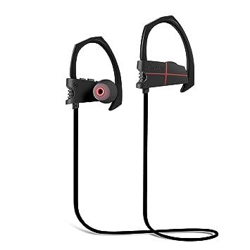 Auriculares Bluetooth Canbor Auriculares 4.1 Inalámbricos Negros con Sonido Estéreo para Deporte, reducción de ruido y Tecnología APTX: Amazon.es: ...