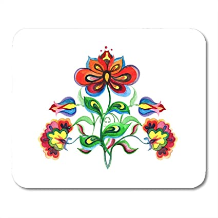 Amazon com : Mouse Pads Color Bloom Eastern European Ornate Flowers
