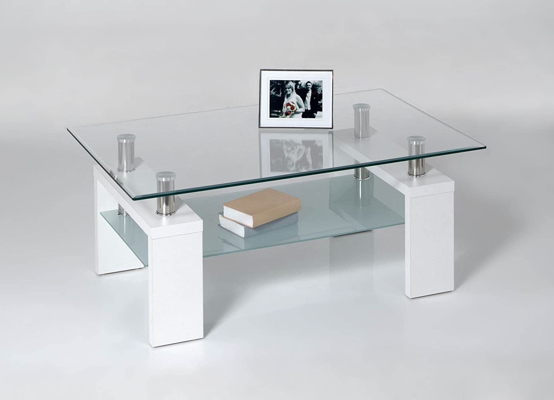 Roller Tavolino dolce–Piano in Vetro–Bianco Proline