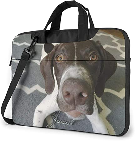 Bolso de Mensajero alemán con Pelo Corto para Cachorro, Bandolera para portátil, Estuche portátil de 15.6 Pulgadas: Amazon.es: Electrónica