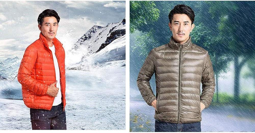Packable Down Jacket Men Ultra Lightweight Winter Jacket with Bag Warm Puffer Jacket