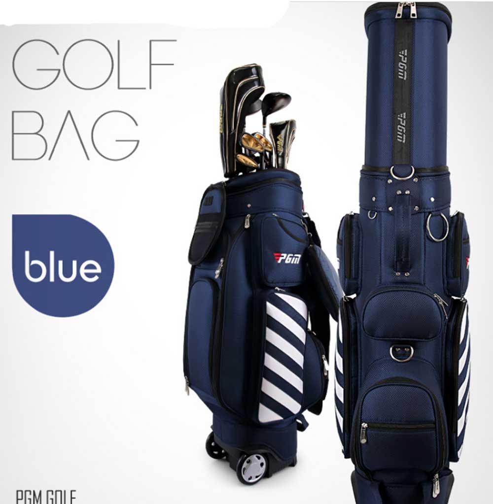 新しい到着Retractable PGMゴルフキャリーバッグWheeledゴルフトラベルバッグゴルフカートバッグ B078XR3TQZ ブルー ブルー
